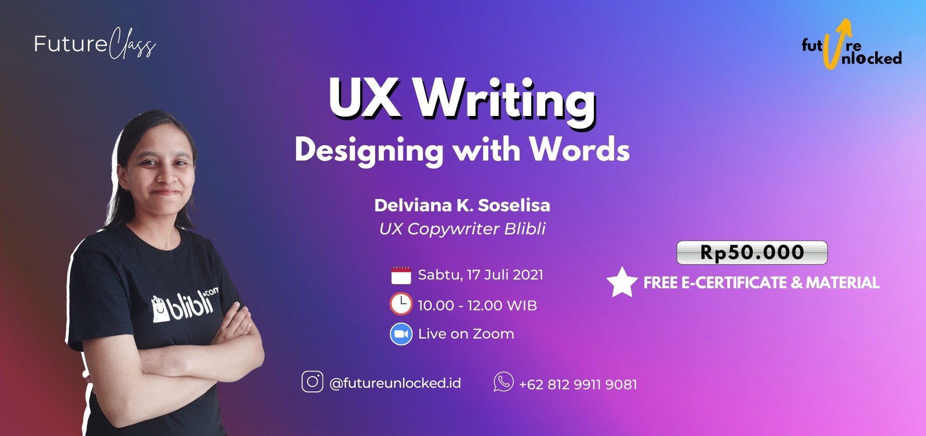 #FUTURECLASS: UX WRITING - Designing with Words
