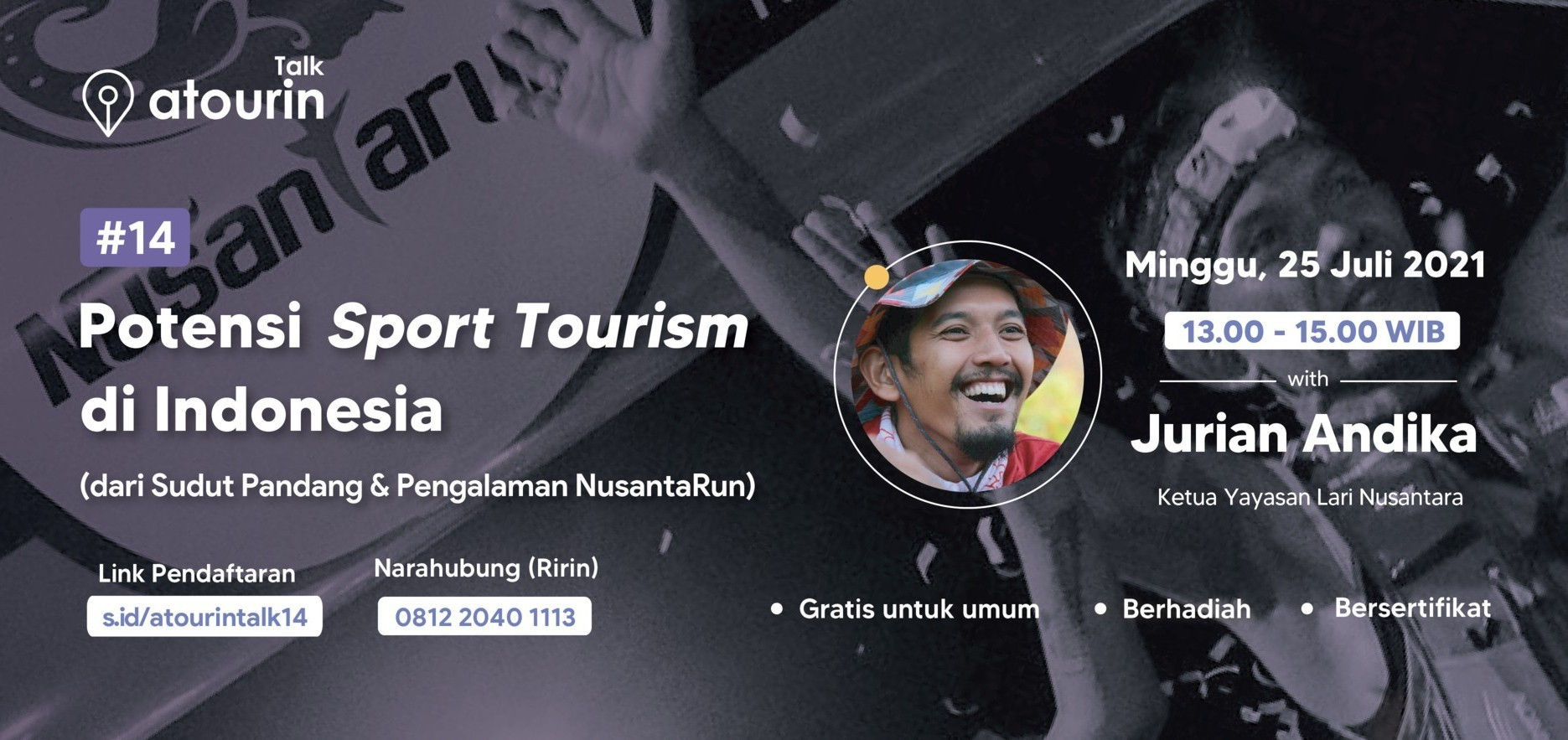 Atourin Talk: Potensi Sport Tourism di Indonesia