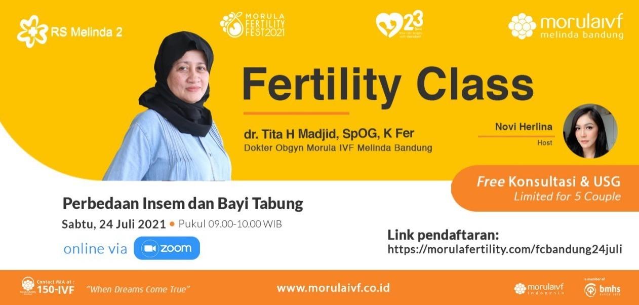 Morula Fertility Class Bersama dr. Tita H Madjid, SpOG, K Fer