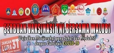 Serbuan Vaksinasi TNI Bersama Walubi Banten 12+ Tanggal 27-28 Juli 2021