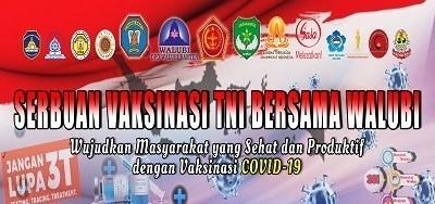 Serbuan Vaksinasi TNI bersama Walubi Banten 12+ Tanggal 28 Juli 2021