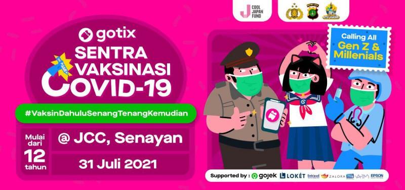 GoTix Sentra Vaksinasi Nasional bersama Polda (Jakarta)