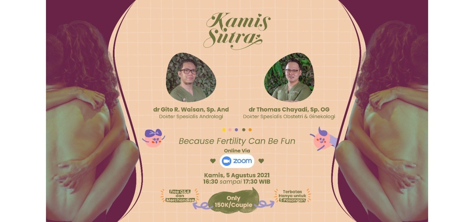 """Kamis Sutra """"Because fertility can be fun"""" On zoom"""