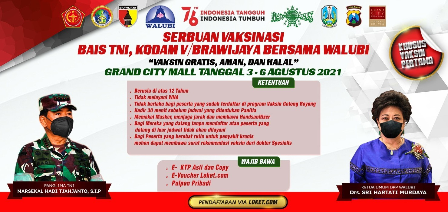 Serbuan Vaksinasi TNI bersama Walubi - 3 s/d 6 Agustus 2021