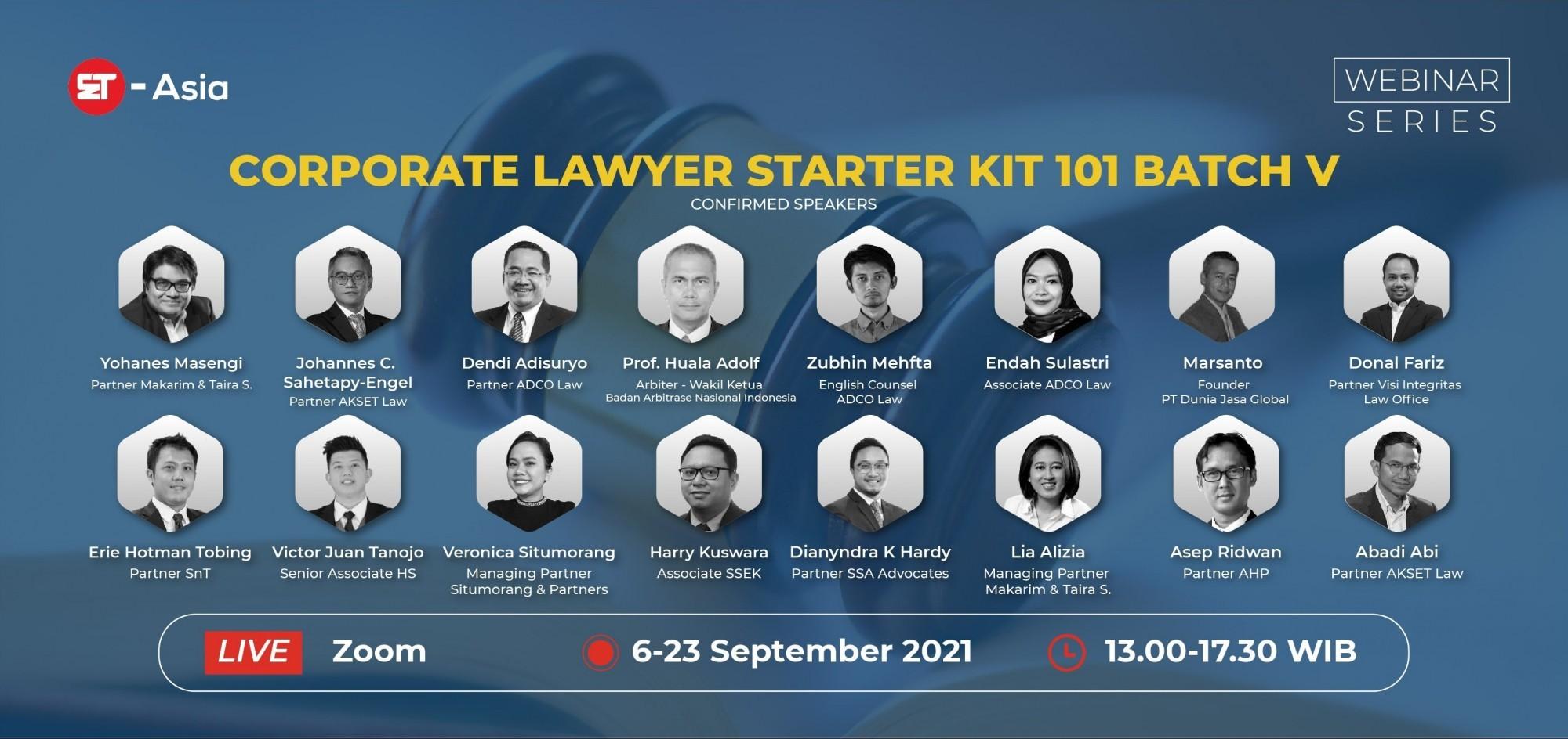 [ET-Asia] Corporate Lawyer Starter Kit 101 - Batch V