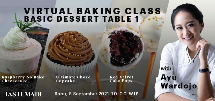 Virtual Baking Class - Basic Dessert Table 1