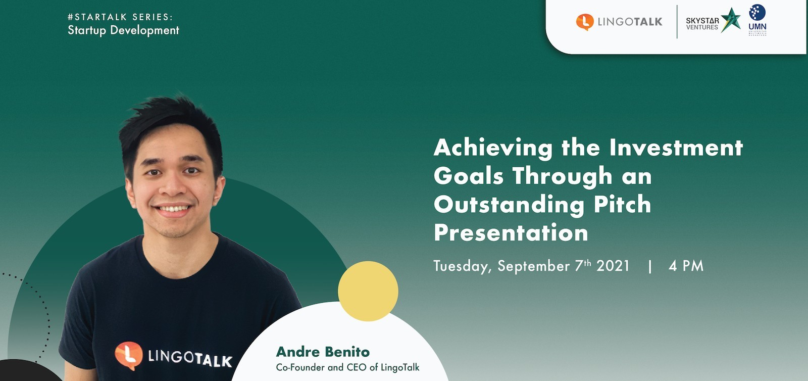 STARTALK - Achieving the Investment Goals Through an Outstanding Pitch Presentation