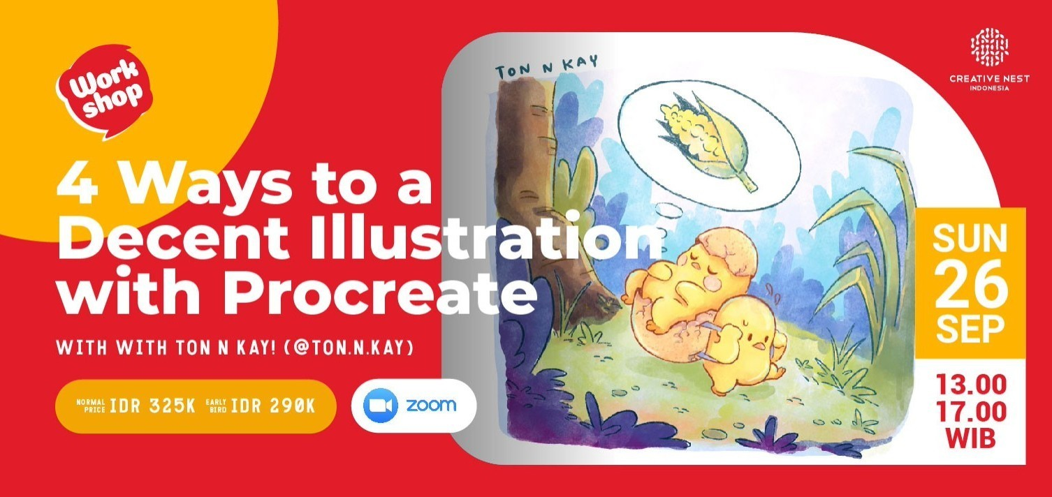 4 Ways to a Decent Illustration with Procreate with Ton n Kay (@ton.n.kay)