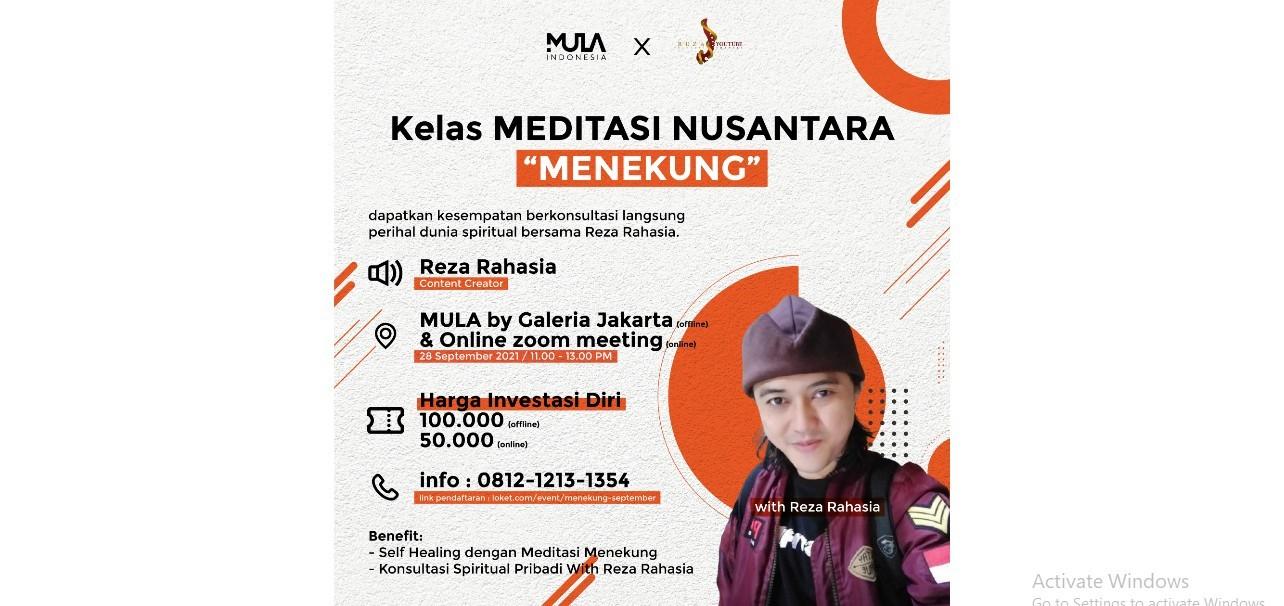 "Meditasi Nusantara ""Menekung"""