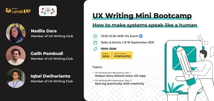 UX Writing Mini Bootcamp