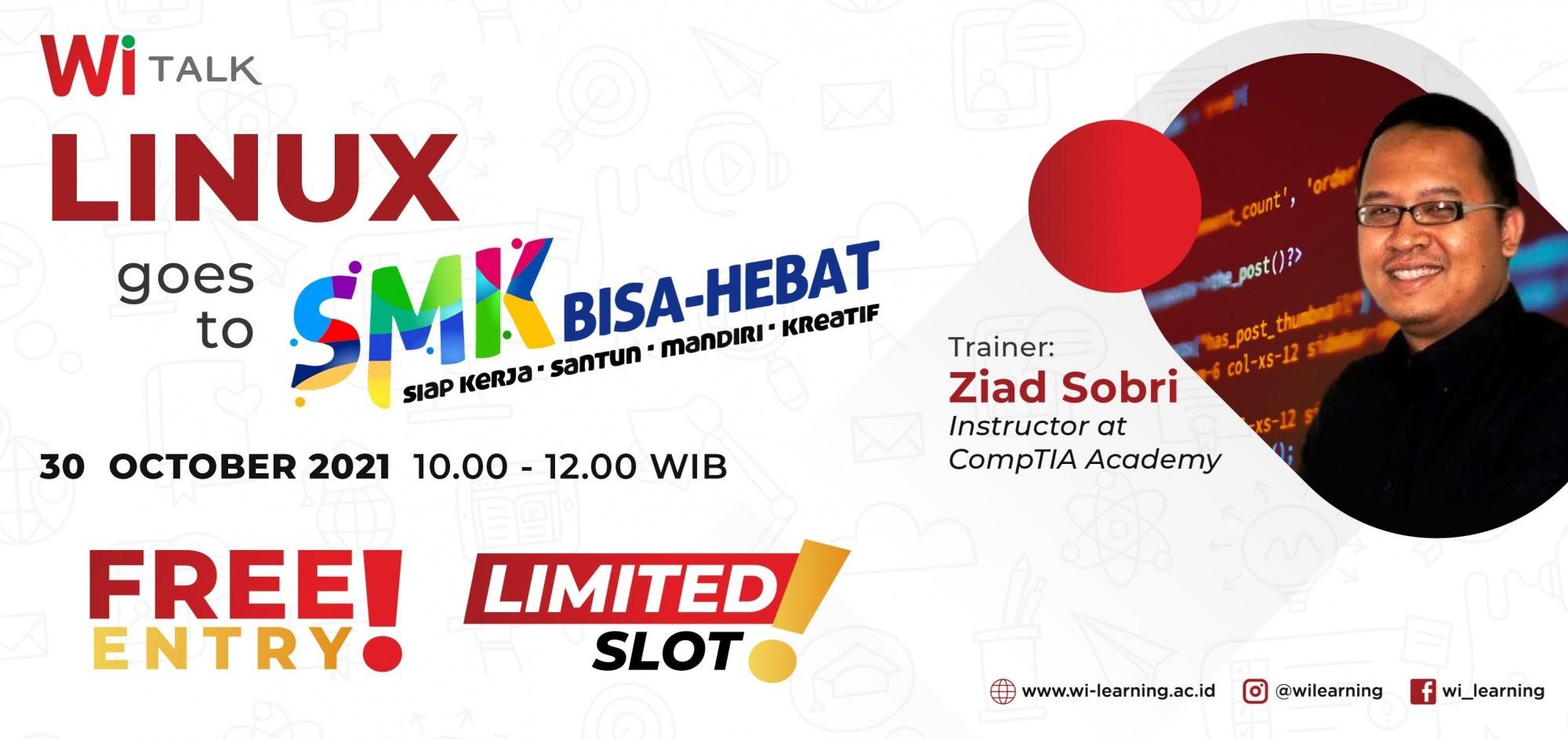 WiTalk : Linux goes to SMK Bisa Hebat