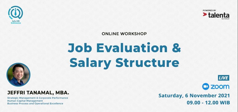 Online Workshop Job Evaluation & Salary Structure