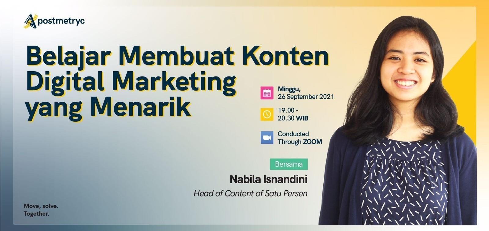 """Webinar """"Belajar Membuat Konten Digital Marketing yang Menarik"""""""