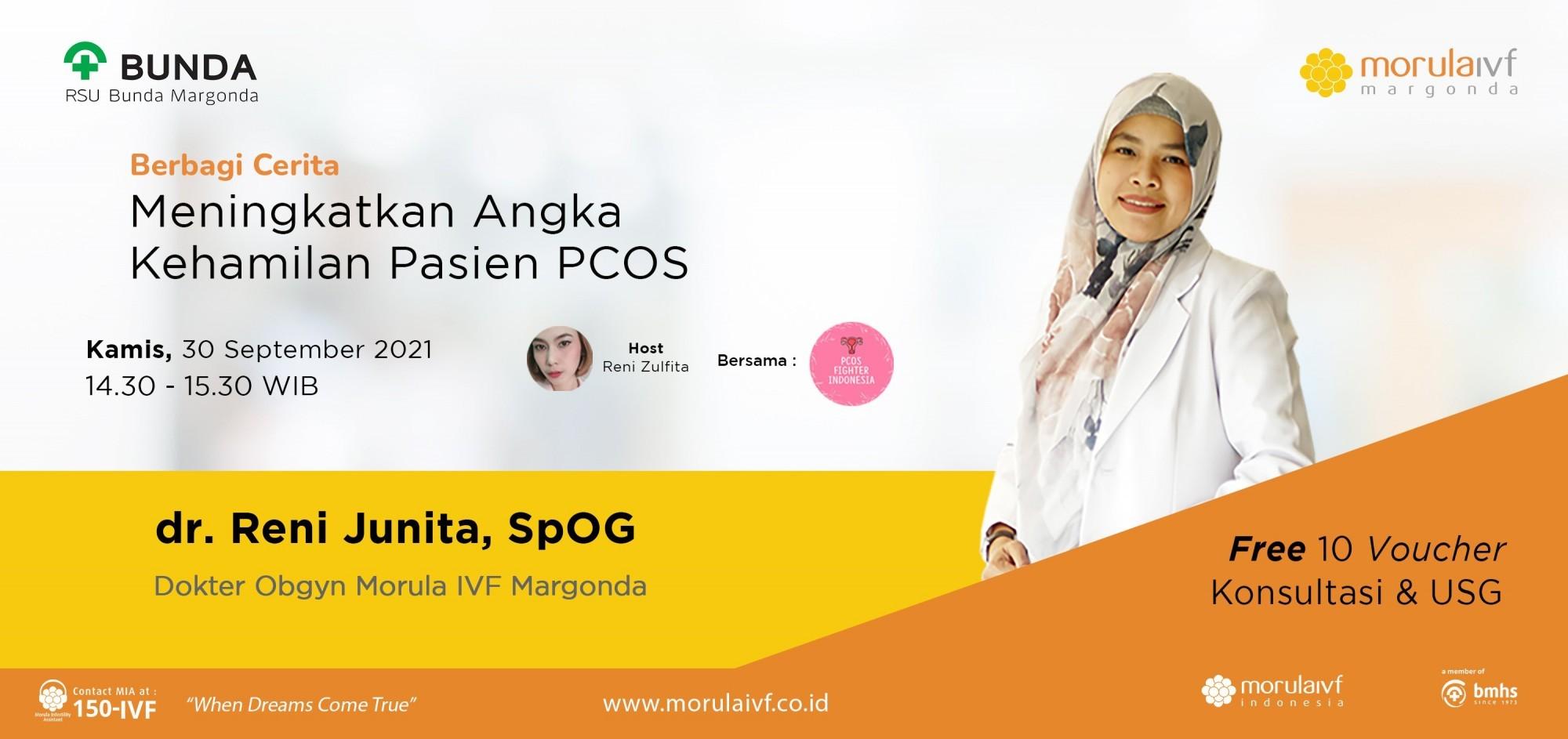 Morula Berbagi Cerita dr Reni Junita, SpOG X PCOS Fighter Indonesia