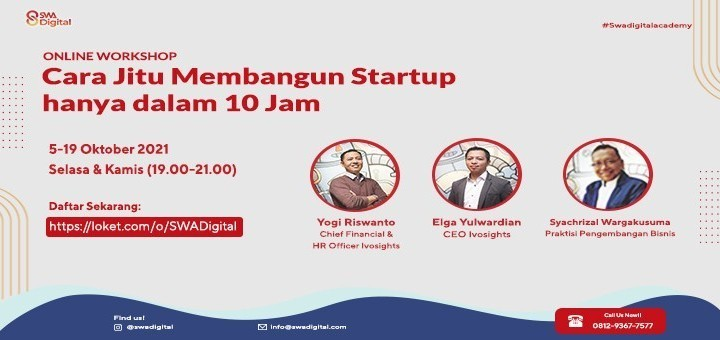 """SWA Digital Online Workshop """"Product Market Fit Proof Concept and Proof Value"""""""