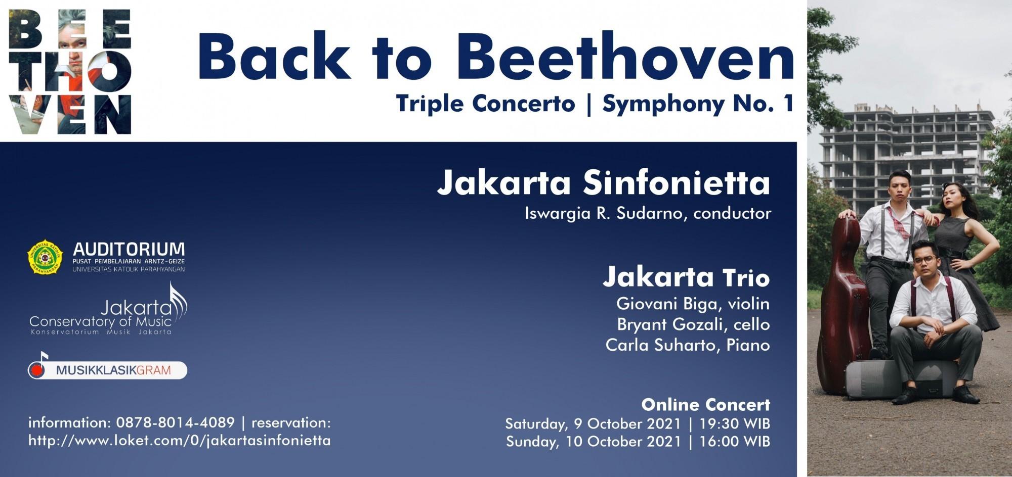 Back To Beethoven  Jakarta Sinfonietta  Jakarta Trio (Sunday 10/10/21)