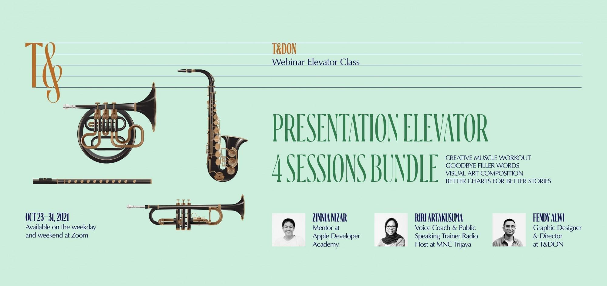 Presentation Elevator 4 Sessions Bundle