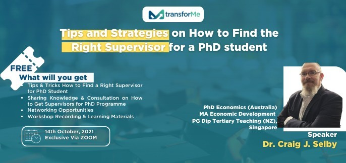 """Workshop """"Tips & Strategies on How to Find the Right Supervisor for a PhD Student"""""""