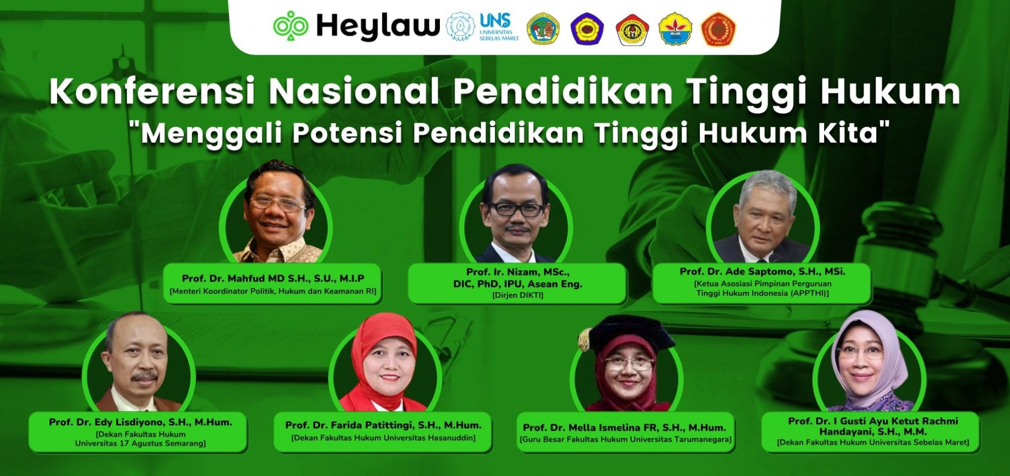 Konferensi Nasional Pendidikan Tinggi Hukum 'Menggali Potensi Pendidikan Tinggi Hukum Kita'