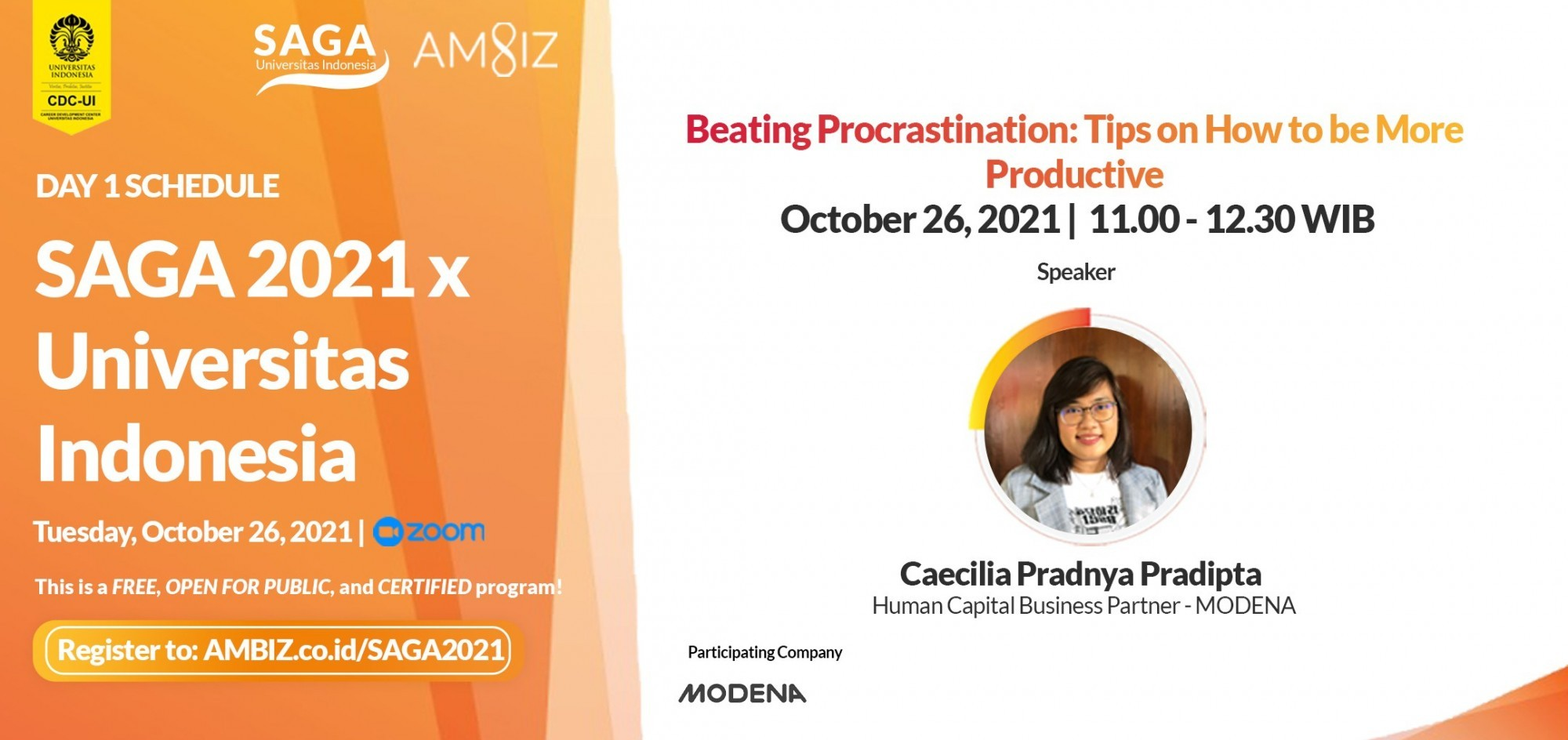[SAGA X UI] Beating Procrastination: Tips on How to be More  Productive