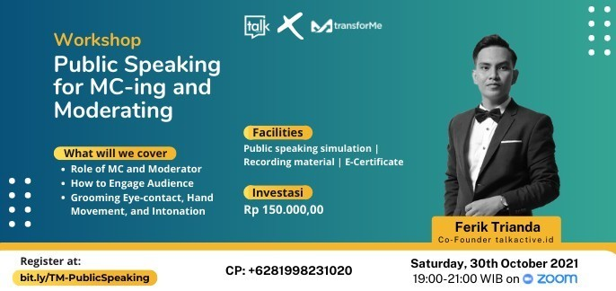 Workshop 'Public Speaking for MC-ing and Moderating'