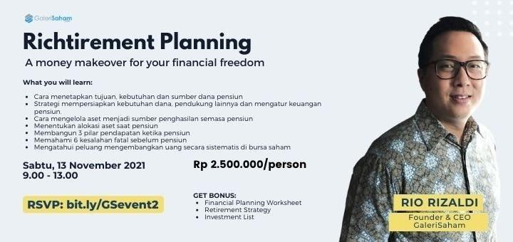 Richtirement Planning - Strategi Dana Pensiun