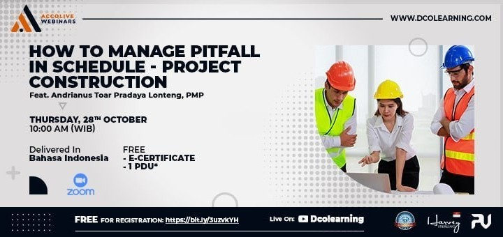 """AccoLive Webinars """"How to Manage Pitfall in Schedule - Project Construction"""""""