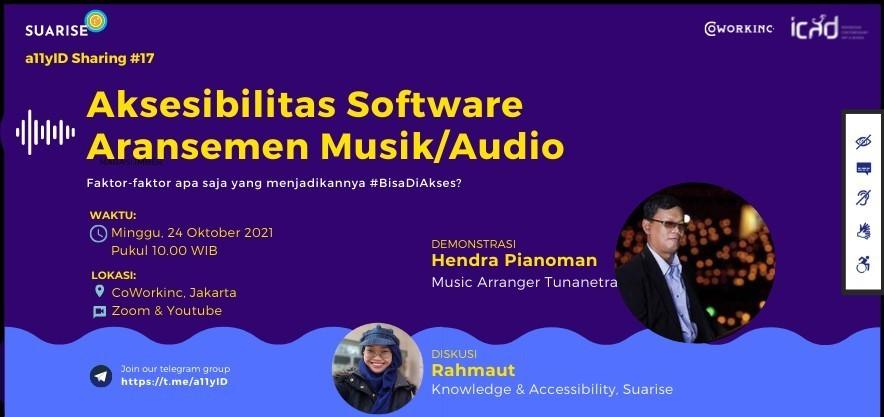 A11yID #17   Aksesibilitas Software Aransemen Musik/Audio