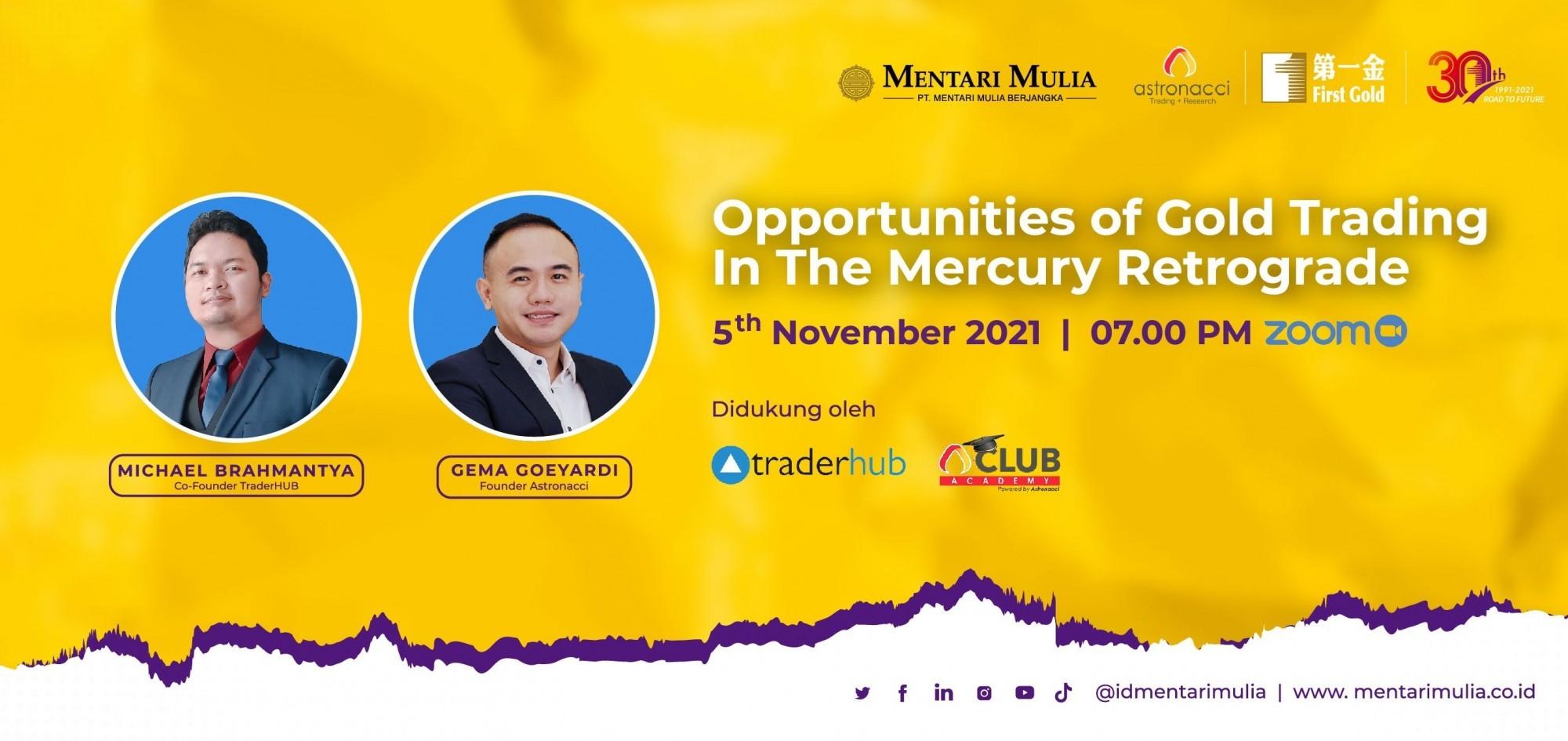 Webinar - Opportunities of Gold Trading in the Mercury Retrograde
