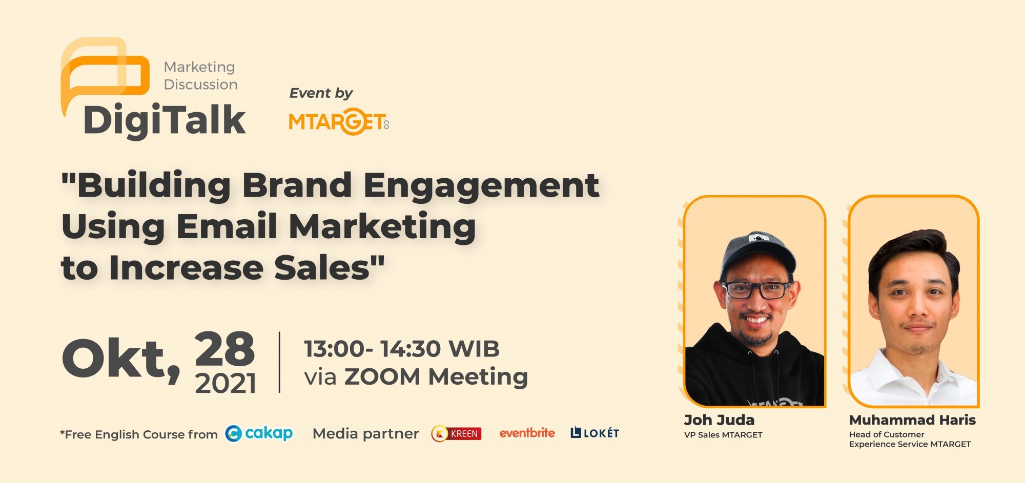 """MTARGET  Webinar  Vol. 23 """"Building Brand Engagement Using Email Marketing to Increase Sales"""""""