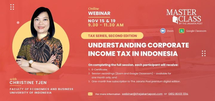 TAX SERIES, SECOND EDITION : UNDERSTANDING CORPORATE INCOME TAX IN INDONESIA