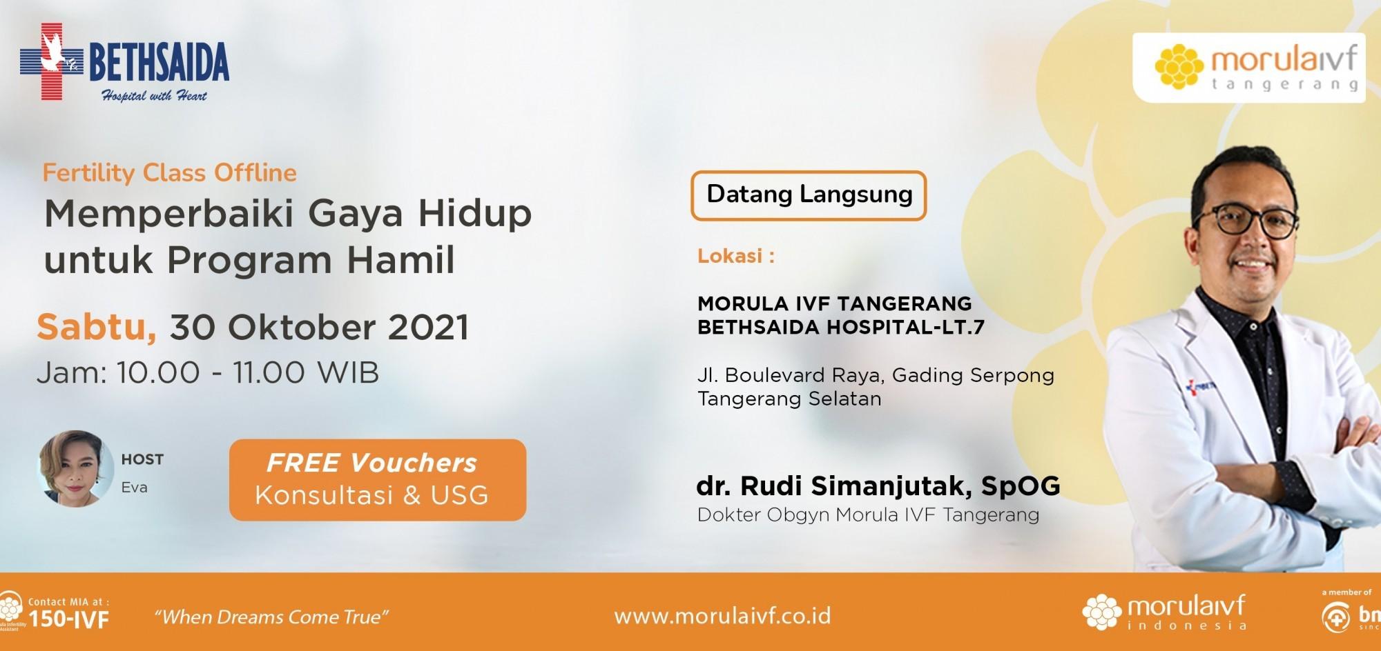 Fertility Class Bersama dr. Rudi Simanjuntak, SpOG