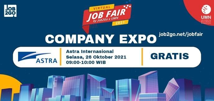 Company Expo Astra Internasional - Virtual Job Fair by Job2Go x UMN