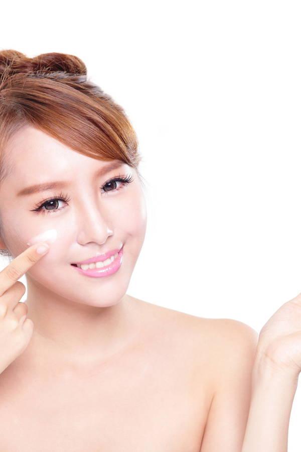 cream on skin