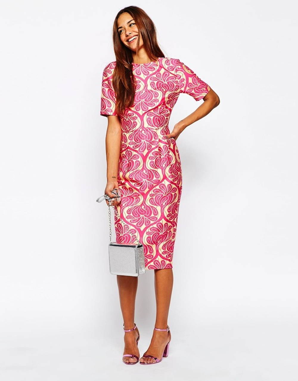 asos jacquard dress