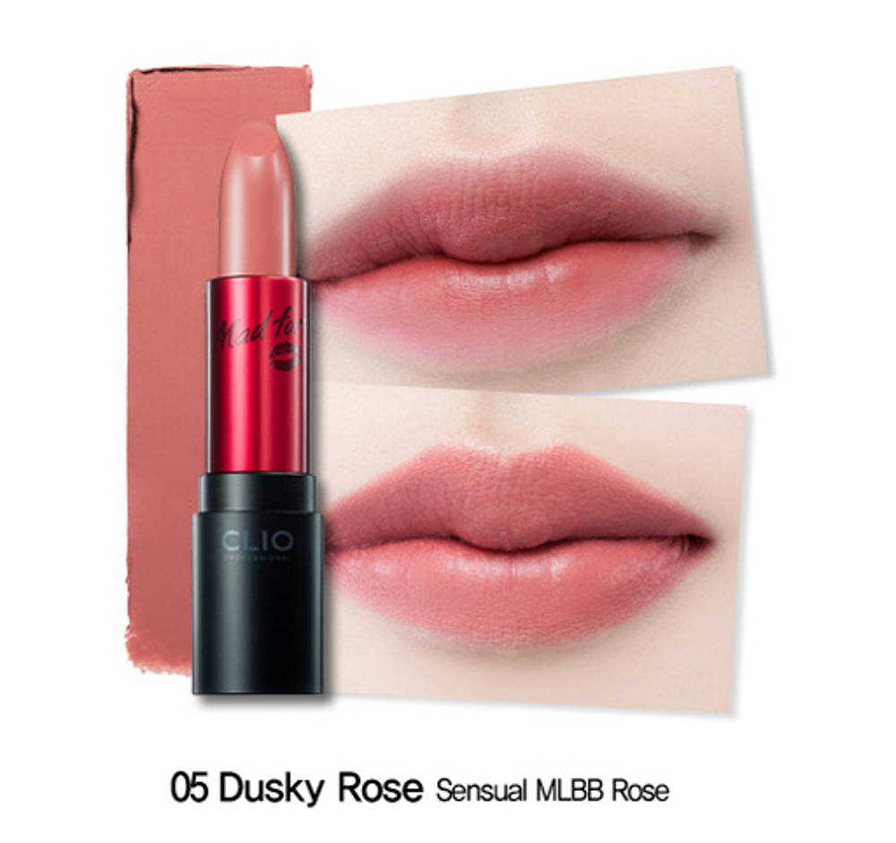 clio virgin kiss matte dusky rose