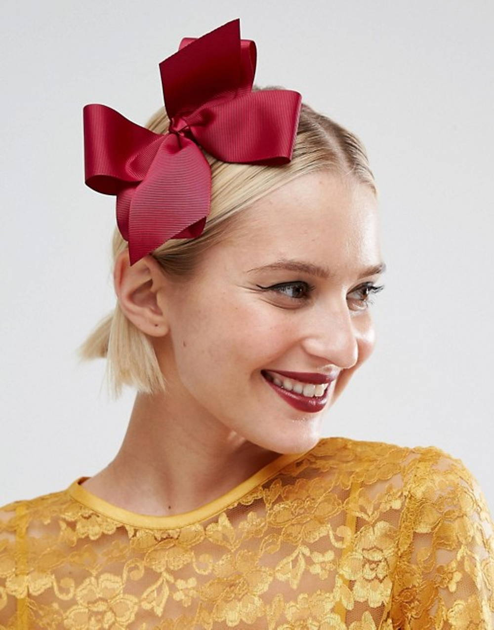 asos bow fascinator