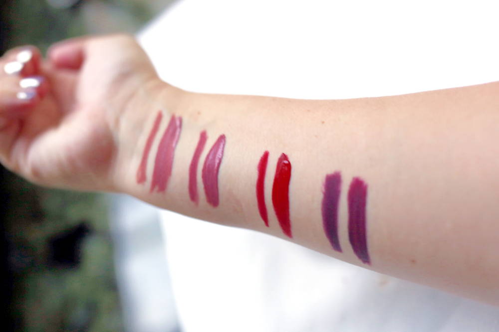 lip kit swatches