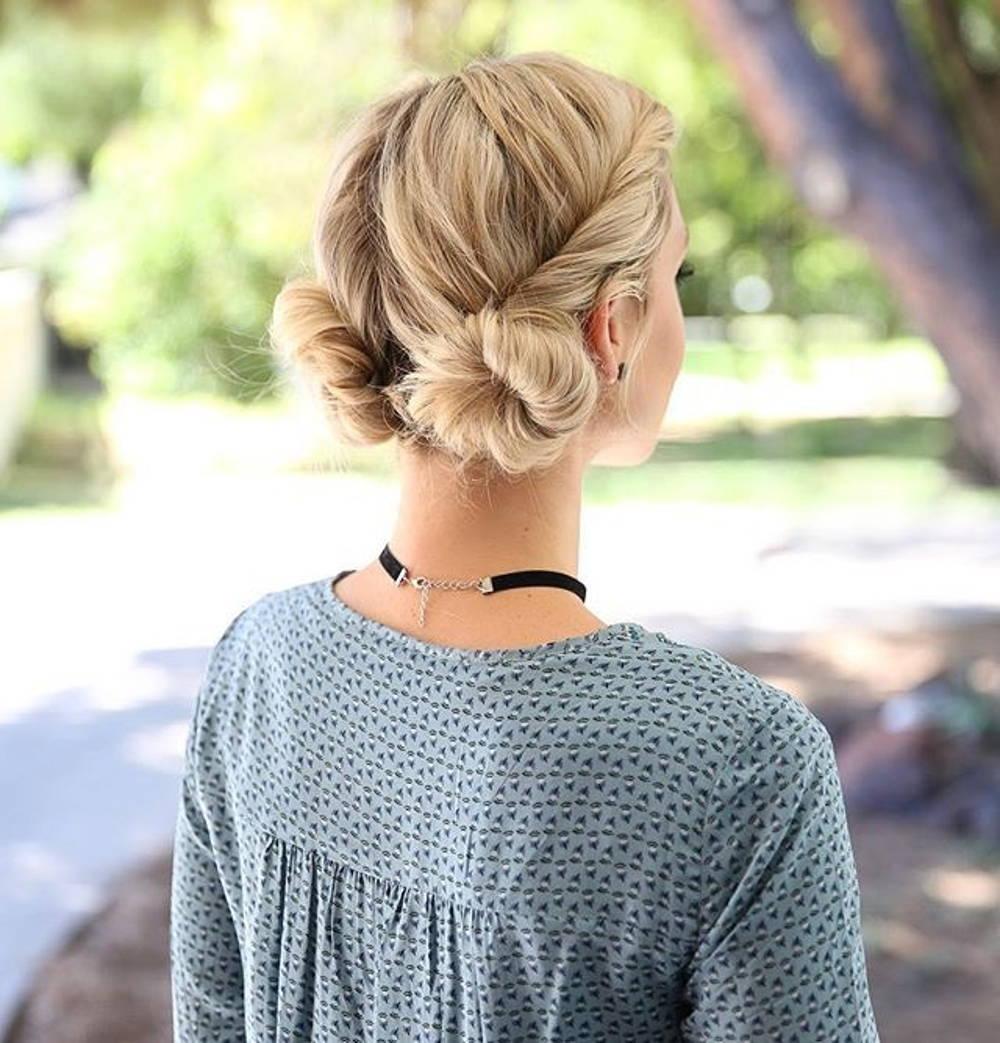 Macaron hair buns