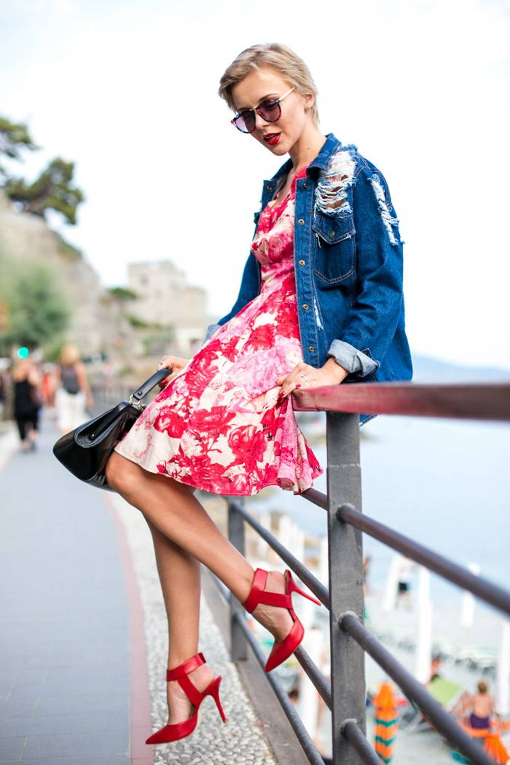 vintage dress denim jacket