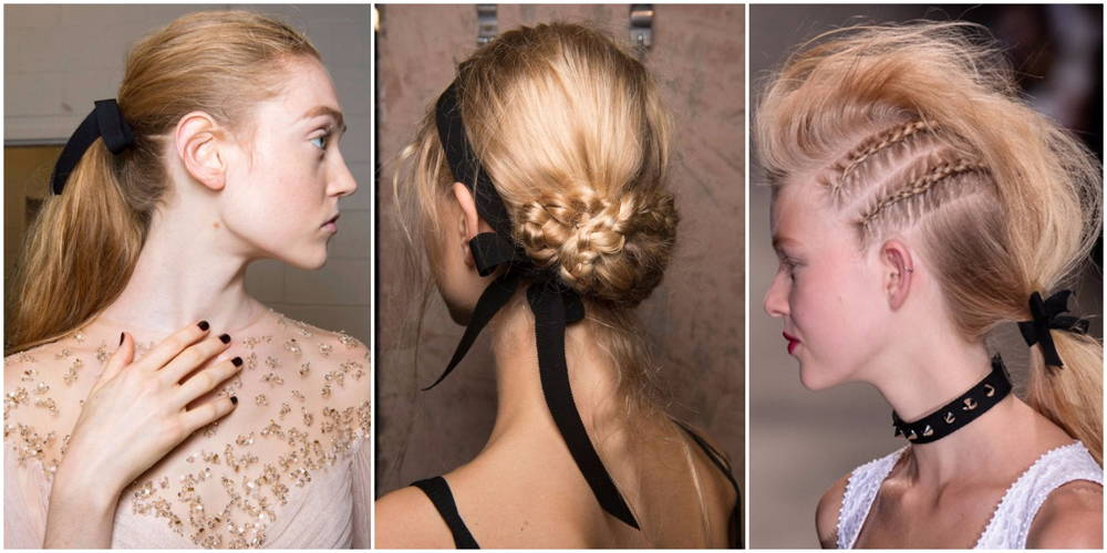 ribbon hair NYFW