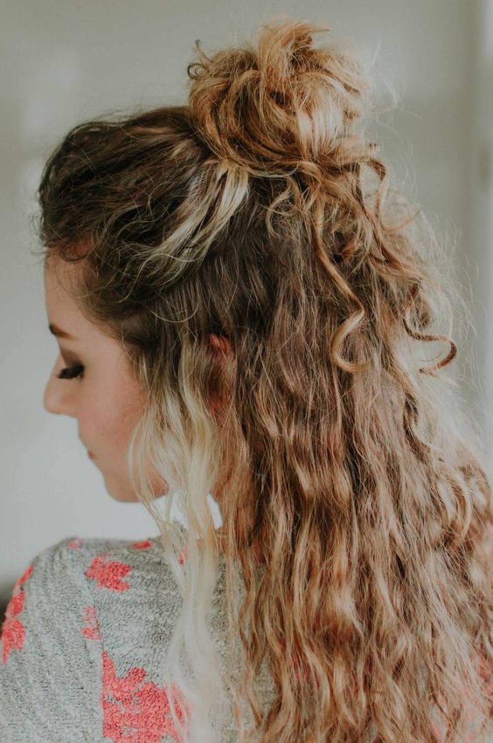 Top knot curls