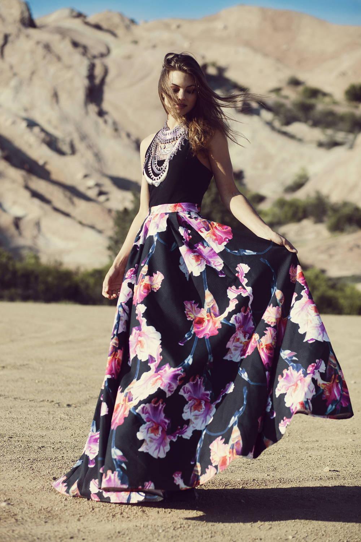 florals skirt trend