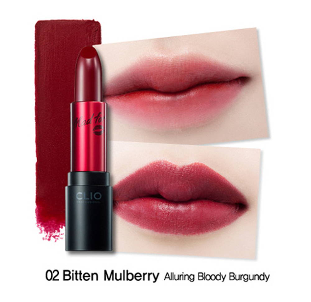 Clio virgin kiss lipstick bitten mulberry