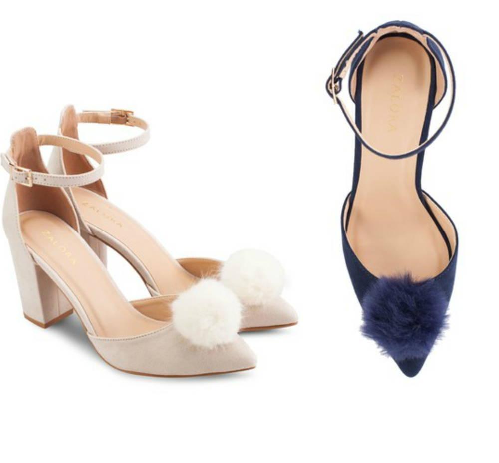 pom pom trend heels