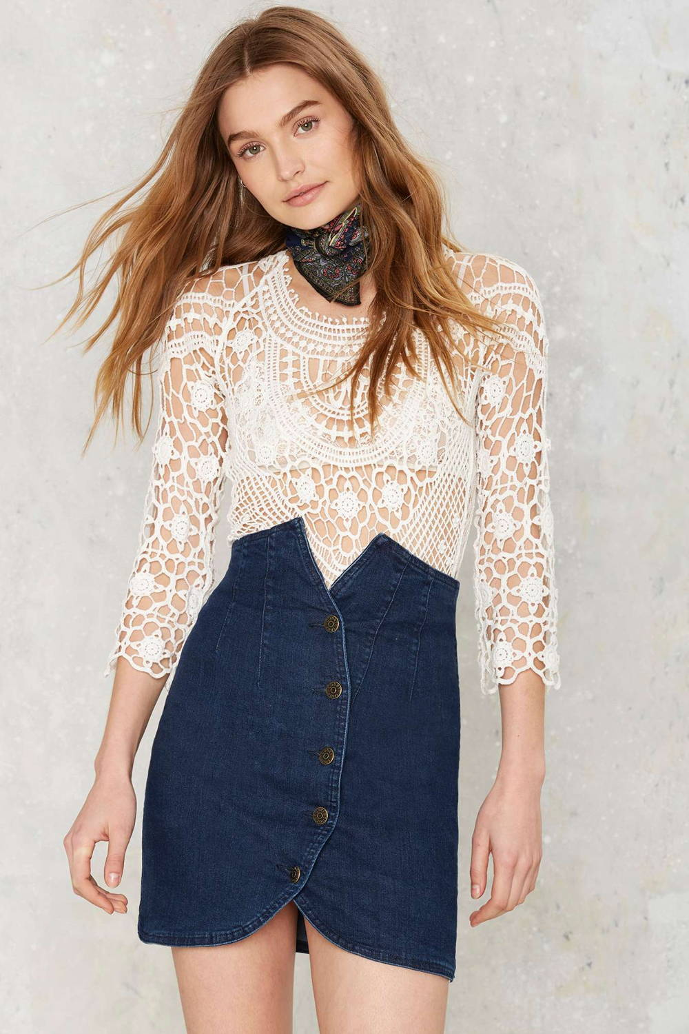 nasty gal denim skirt