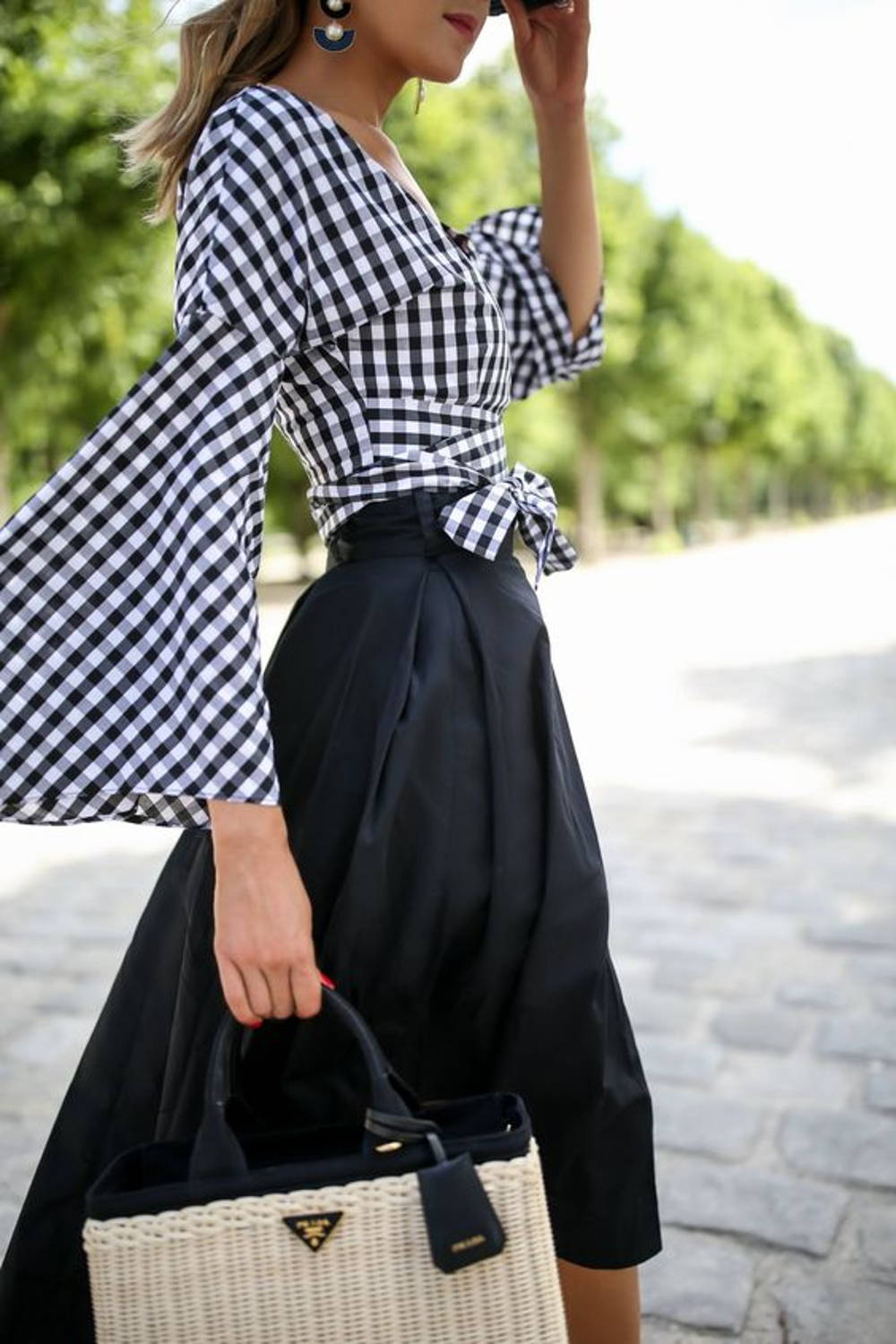 Bell sleeves midi skirt