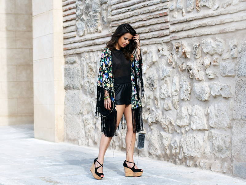 Girl in a kimono