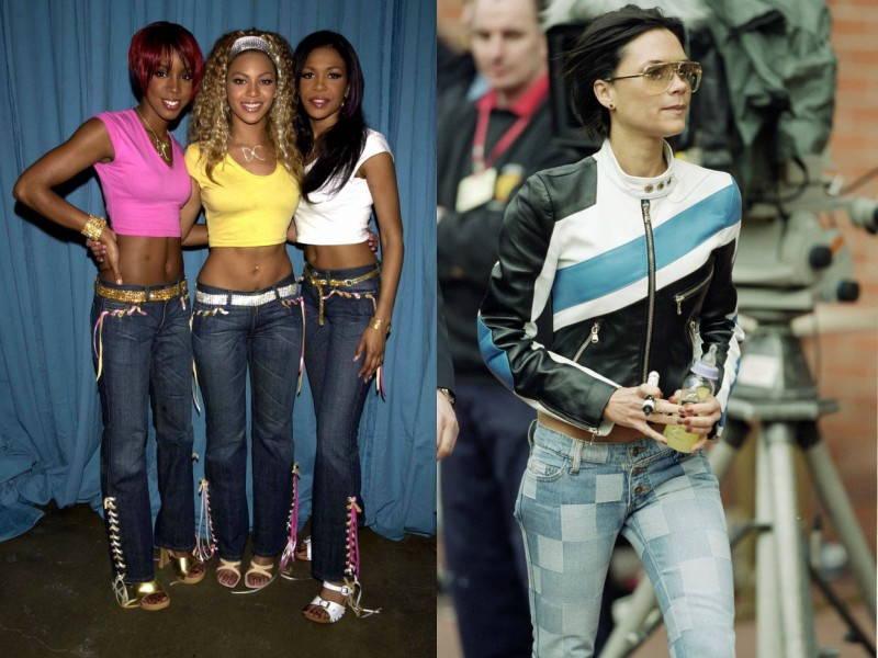 patchwork embellished jeans