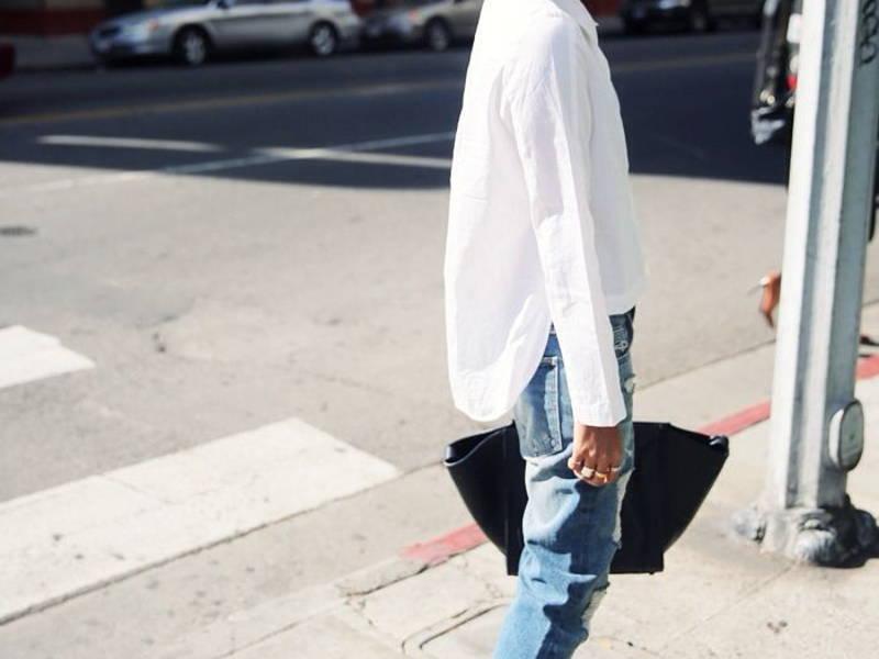 stylish denim jeans with a basic white shirt